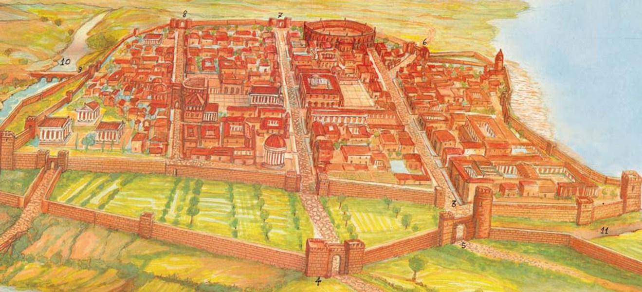 ricostruzione della Napoli greco-romana